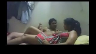 Indian couple love making in room