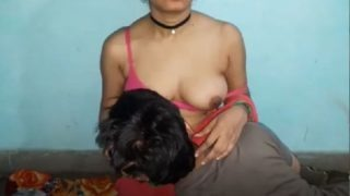 Fucking pussy of hot maid with big boobs