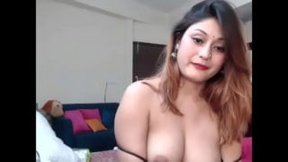 Horny Indian woman showing big boobs
