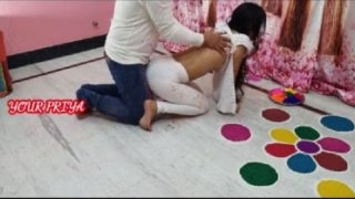 Desi siblings enjoying sex on Holi